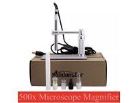 5MP USB 500X 8 LED Digital Microscope Endoscope Magnifier Camera