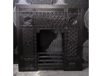 Stunning Reclaimed Cast Iron Back Plate Vintage - Delivery Available