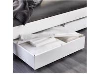 Bulk X2 White Ikea Wood VARDO Already Assembled wheeled Under bed Storage
