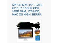 "iMac 27"" 2013 16gb i7"