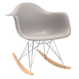 'Charles Eames style' Grey Rocking Chair