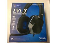 PS4 Official LVL 3 Stereo Headset Brand New Boxed - Afterglow