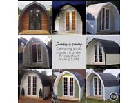 Camping pod, garden office, man cave made to order prices start from £3249
