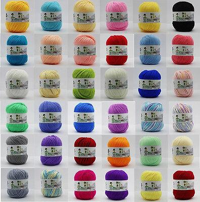 Worsted Fiber - Chic 97 Color Hybrid Fibroin Natural Worsted Knitting Yarn Baby Blend Fiber Yarn