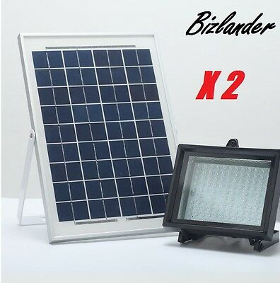 2 Pack Bizlander 10W108LED Solar Powered Flood Light for Better Home and (Best Led Flood Lights For Home)