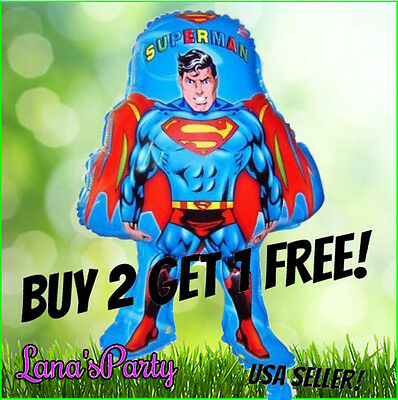 Superman Birthday Party Balloon Justice league balloons decorations supplies  - Justice League Party