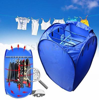 مجفف الغسيل جديد Portable Electric Air Drying Machine Bag Clothes Dryer Multifunction Folding
