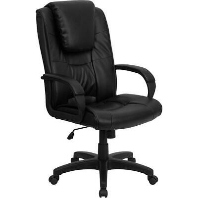 High Back Black Leather Executive Swivel Office Chair with Oversized... - Oversized Office Chair
