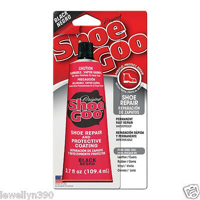 Shoe Goo BLACK 3.7 oz  Shoe Repair Adhesive Glue Leather Rubber Vinyl  NEW!!