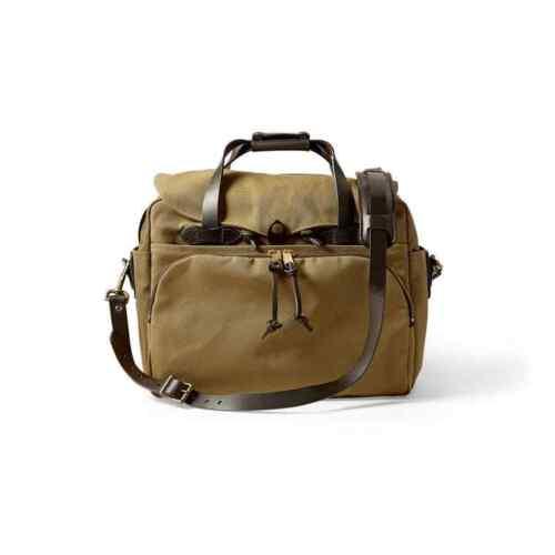 как выглядит Мужская сумка Filson Laptop Bag Briefcase  Padded Computer Case Tan 70258 фото