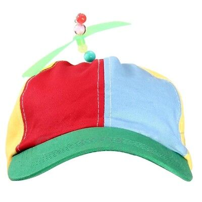 Propeller Cap Hat Helicopter Rainbow Tweedle Dee Dum Pride Fancy Dress Nerd A55X