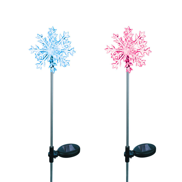 Solar Powered Frog Yard Garden Stake Color Changing LED Light