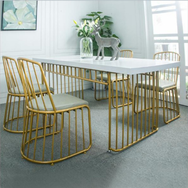 E 021PO -Solid Wood Dining/Office / Table,golden Chair