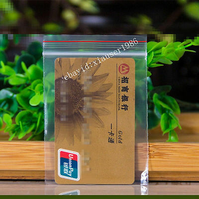 100 7x10cm Ziplock Bags 2mil Clear Plastic Bag Reclosable Zipper Small Bags