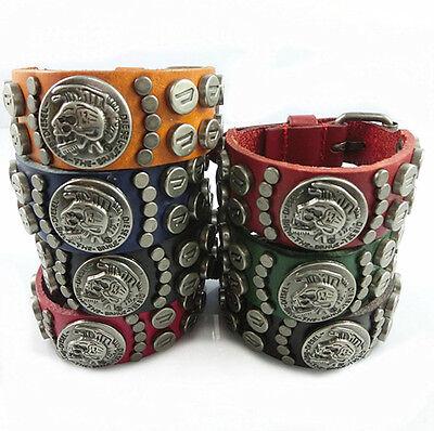 "DIESEL ""ONLY THE BRAVE""  (BLACK)  Genuine Leather Buckle Bracelet 10.5""  $9.99"