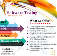QA/ SOFTWARE TESTING TRAINING AND PLACEMENT ASSISTANCE...