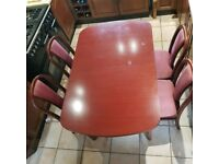 Solid wood dining table and 6 chairs - NEEDS TO GO TODAY 15/08