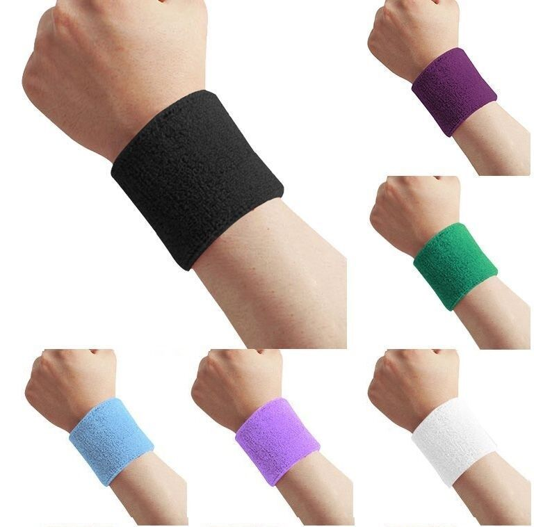 2 X Sport Armbanduhr Schweißband Unisex Armband Ehering Tennis Squash Badminton