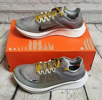 Nike Zoom Fly Sp Fast Size UK 7 Running Trainers BRAND NEW Grey/Gold