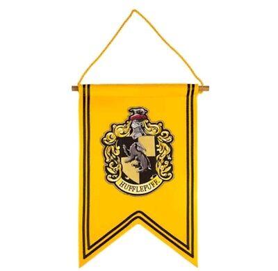 Universal Studios Harry Potter Hufflepuff House Crest Banner - Hufflepuff Banner