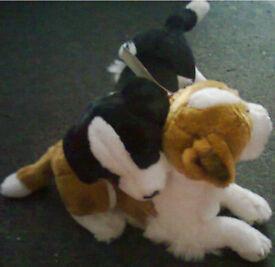 """X2 ,14"""" E&J CLASSIC Plush Dogs Realistic Prima Classique Stuffed Toys"""