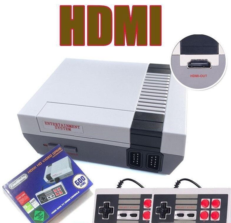 HDMI Mini Retro TV Game Console NES Classic 620 Built-in Games 2 Controllers xma