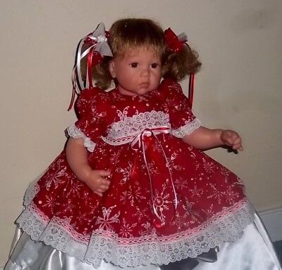 - Pretty Snowflakes Holiday Dress For Lee Middleton Toddler Doll 20