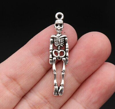 Bone Necklace Halloween (925 Sterling silver 20