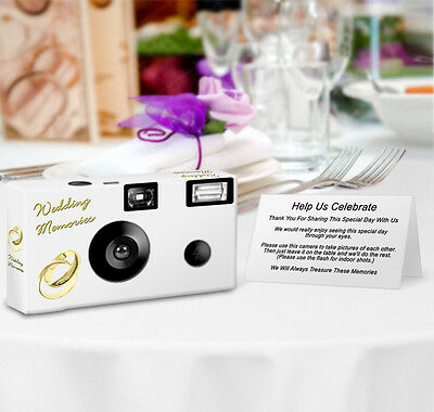 - 20 Gold Rings Disposable Camera, Single Use Cameras, Wedding Camera