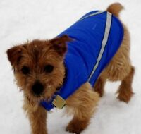 SMALL DOG Coat, RC PETS Available in Blue   Size 12   Fits a Do