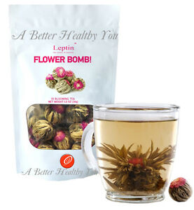 1 Pack Leptin Flower Bomb Blooming tea antioxidants Boutique herbal tea