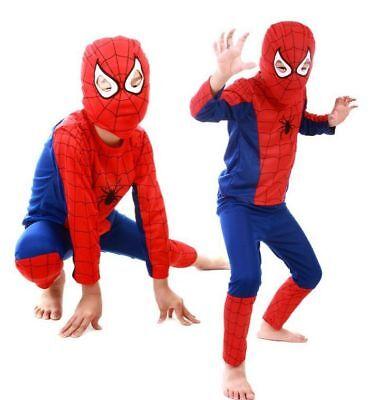 Baby Spider Man Kostüme (Boys Baby Kids Spiderman Superman Batman Cosplay Costume Halloween Clothing)