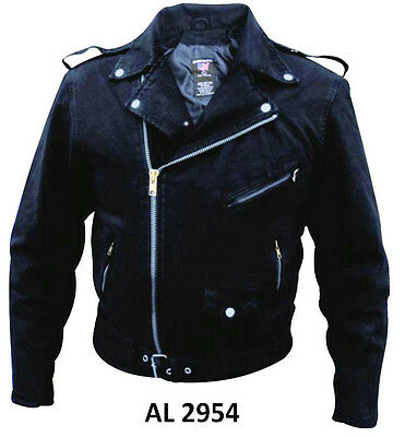 Black Denim Cotton Jean Classic Biker Motorcycle Jacket