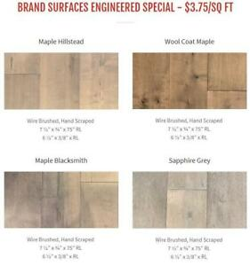Engineered Hard Wood  - Starting at $3.75 Cash and Carry