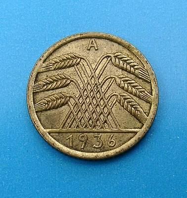 WEIMARER REPUBLIK 5 REICHSPFENNIG 1936 A