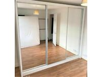 💥💯OVERSTOCK CLEARENCE 2 AND 3 MIRRORED DOORS SLIDING WARDROBES WITH SHELVES, RAILS