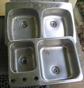 Pair of Stainless Steel Sinks