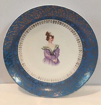 "Antique Rare Victorian 11-3/4"" Victoria Carlsbad Serving Or Wall Plate Austria"