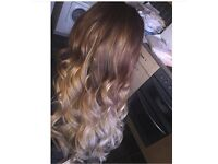 Hair extensions cutting colouring 10 years experience