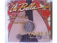 Authentic La Bella OU80A Oud Strings Arabic Tuning- Set of 12 Strings. Made in America BRAND NEW