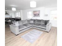 Large corner sofa unit.