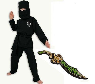 schwarz mit Lego Chima Scorpion Schwert (Scorpion Ninja Kostüm)