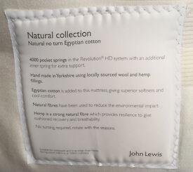John Lewis Natural Collection DOUBLE MATTRESS – MEDIUM