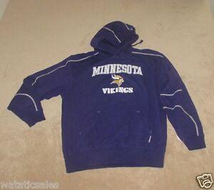 Minnesota Vikings NFL Football Men's Hooded Sweatshirt Hoodie Size 2XL New