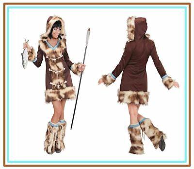 Sexy AIKAA Eskimo Girl Kostüm Damenkostüm Fellkostüm Fasching - Eskimo Kostüme Damen