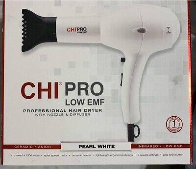 Novo secador profissional Chi Pro Low EMF branco pérola ... GRANDE PRESENTE !!!