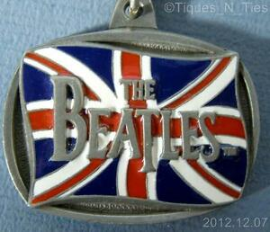 1996-Beatles-British-Flag-Keychain-Apple-Corps-Limited-KCB-3-USA-Key-Chain-FF