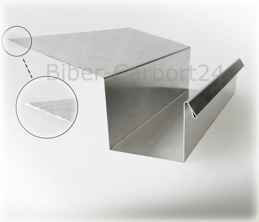 Kastenrinne 30 Alu-Profil Blech Regenrinne Kasten Rinne Aluminium Aluprofil Dach