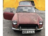 1971 MG B Gt 1.8 Petrol 3drs (Spare or Repair)