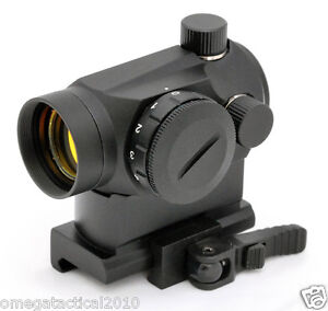 Mini Micro Red Dot Sight with QD Riser Mount for Co Witness With Iron Sights
